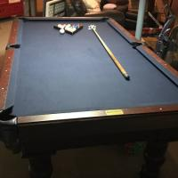 Pool Table, Chairs, Light, Ping Pong Table Top and Accessories