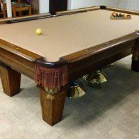"Regulation Size ""Slate Top"" Pool Table"