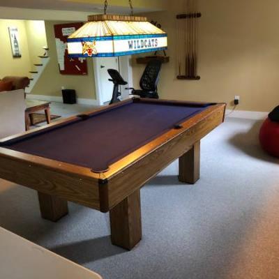 UK Pool Table & Light Combo