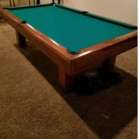 8ft Brunswick Slate Bed Pool Table