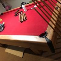 Steepleton 4'x8' Billiard Table and Vintage Bud Light Light