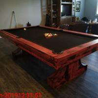 Pool Table 8' Plank & Hide Rexx Custom Steel