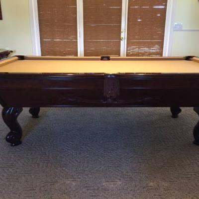 Mahogany Brunswick Pool Table
