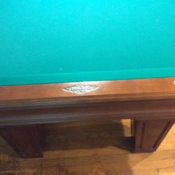 Brunswick Mansfield slate table with cues and balls and liight