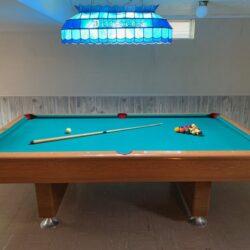 8' KY Billiards Pool Table + Light - $1,750 (Versailles)